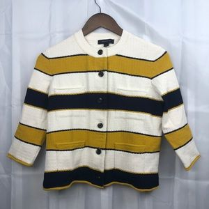 Ann Taylor Striped Sweater Jacket